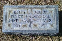 """Elizabeth L """"Betty"""" Ball"""