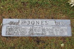 Annie Elizabeth <I>Parker</I> Jones