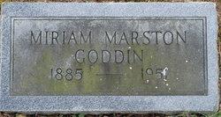 Miriam <I>Marston</I> Goddin