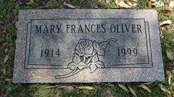 """Mary Frances """"Frances"""" Oliver"""