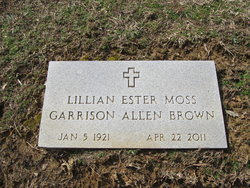 Lillian Ester <I>Moss</I> Brown