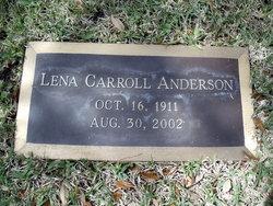 Lena Carter <I>Carroll</I> Anderson