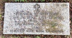Bernice K Dettloff