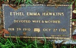 Ethel Emma <I>Villers</I> Hawkins