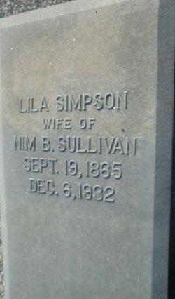 """Eliza Ellen """"Lila"""" <I>Simpson</I> Sullivan"""