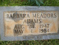 Barbara <I>Meadors</I> Adams
