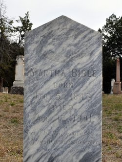 Mary Martha Kinser Bible 1843 1901 Find A Grave Memorial