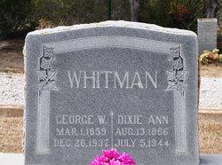 Dixie Ann <I>Kinser</I> Whitman