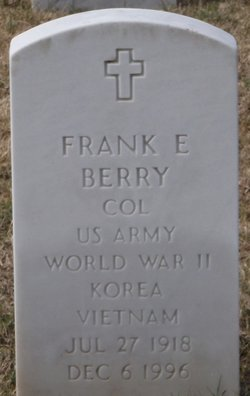 COL Frank Edward Berry