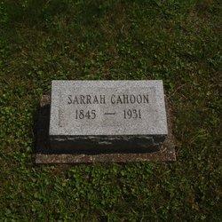 Sarah <I>Hill</I> Cahoon