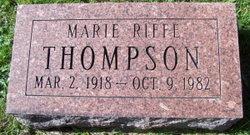 Marie <I>Riffe</I> Thompson