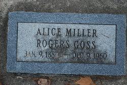 Alice Ellen <I>Miller</I> Goss