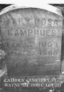 Mary Rosa <I>Huguenard</I> Kamphues