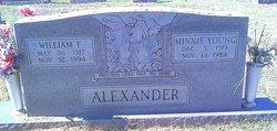 Minnie E <I>Young</I> Alexander