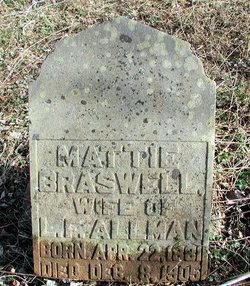 Mattie <I>Braswell</I> Allman