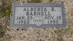 Alberta Bertha <I>Behymer</I> Barnell