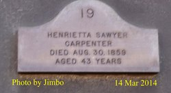 Henrietta <I>Sawyer</I> Carpenter
