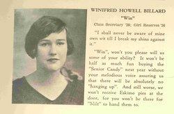 Winifred Howell Billard