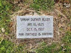 Sarah Caroline <I>Dunkin</I> Allen