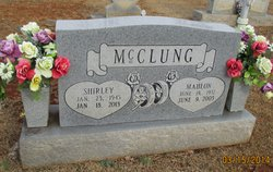 Shirley Marie <I>Williamson</I> McClung