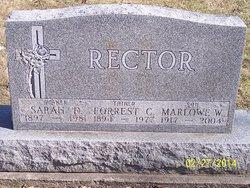 Sarah <I>Dexter</I> Rector