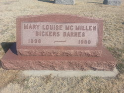 Mary Louise <I>McMillan</I> Bickers Barnes