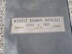 Winnie <I>Brown</I> Wingate