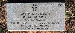 """Joseph Albert """"Joe"""" Alemany"""