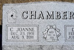 """Caroline Joanne """"Joanne"""" <I>Vanderpool</I> Chambers"""