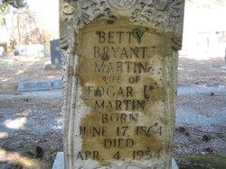 "Elizabeth R ""Bettie"" <I>Bryant</I> Martin"