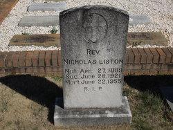 Rev Nicholas Liston