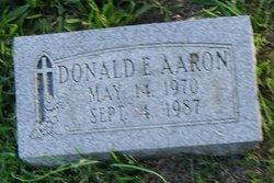Donald Edward Aaron
