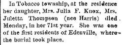 Juliette <I>Comstock</I> Thompson
