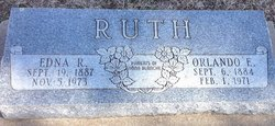 "Edna R. ""Eddie"" <I>Rickman</I> Ruth"