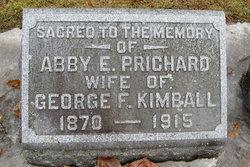 Abby Elizabeth <I>Prichard</I> Kimball