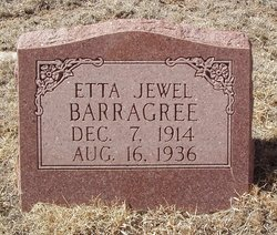 Etta Jewel <I>Frazee</I> Barragree