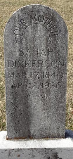 Sarah Elizabeth <I>Holland</I> Dickerson