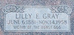 Lilly Edith <I>Zimmerman</I> Gray