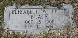 Martha Elizabeth <I>Willette</I> Black