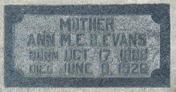 Ann Maria Easter Bailey <I>Sharp</I> Evans