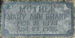 Mary Ann <I>Johnson</I> Sharp