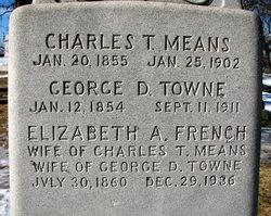 Elizabeth A <I>French</I> Towne