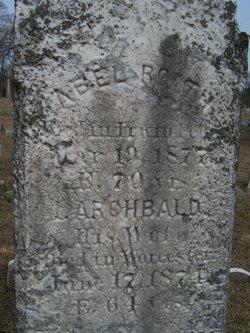 Isabella <I>Archbald</I> Roath