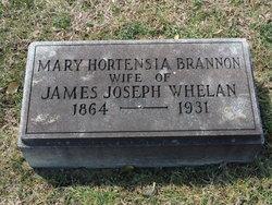 Mary Hortensia <I>Brannon</I> Whelan