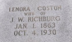 "Frances Lenora ""Nora"" <I>Coston</I> Richburg"
