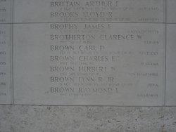1Lt Herbert W Brown