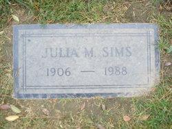 Julia Mae <I>Fredericks</I> Sims