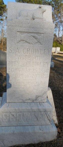Sarah Angeline <I>Yeates</I> Crowley