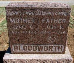"Jane Uorky Beauregard ""Janie"" <I>Mobley</I> Bloodworth"