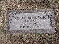 Martha Lorene <I>Morton</I> Craig